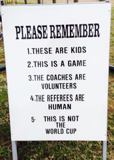 Things to remember at the soccer field